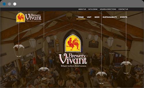 Brewery Vivant Website Screenshot