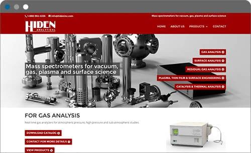 hiden analytical website screenshot