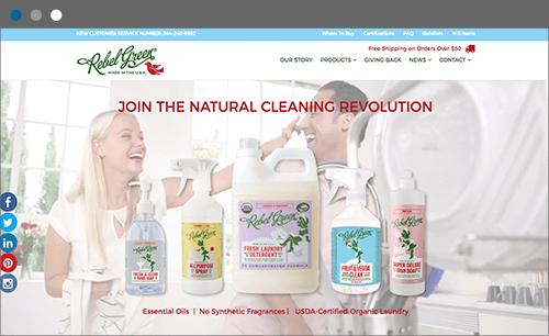 rebel green website screenshot