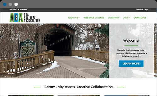ada business association website screenshot