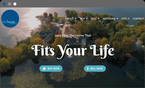 blu house properties website screenshot
