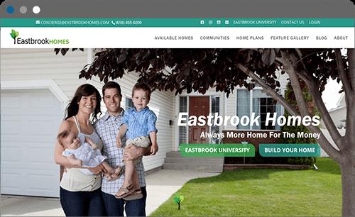 eastbrook homes website screenshot