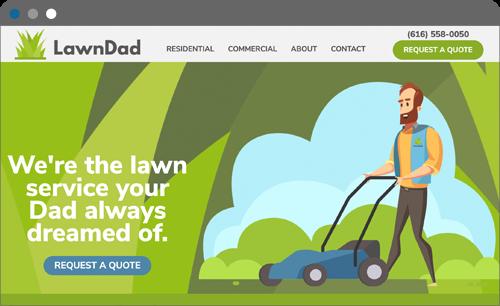 lawd dad website screenshot