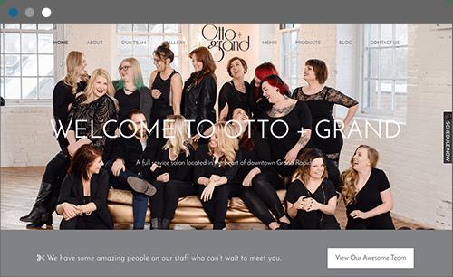 otto and grand website screenshot
