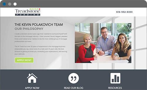 treadstone mortgage website screenshot